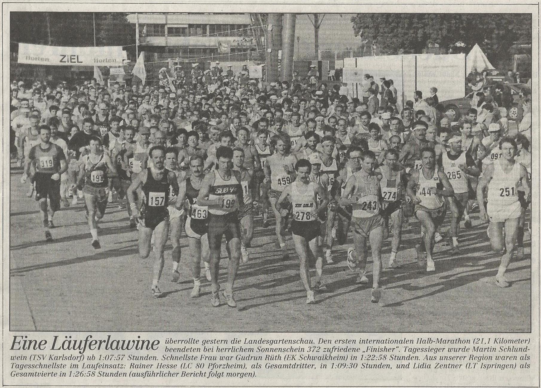 1. Halbmarathon